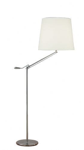 Infusion Adjustable Floor Lamp Satin Chrome INF4946 (136697) (Class 2 Double Insulated)
